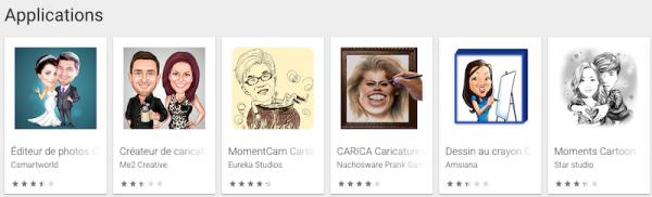Créer une caricature à partir d'une photo sur smartphone