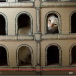 Construire une maison à chat avec des cartons